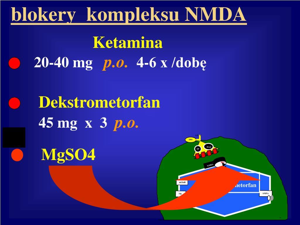 blokery  kompleksu NMDA