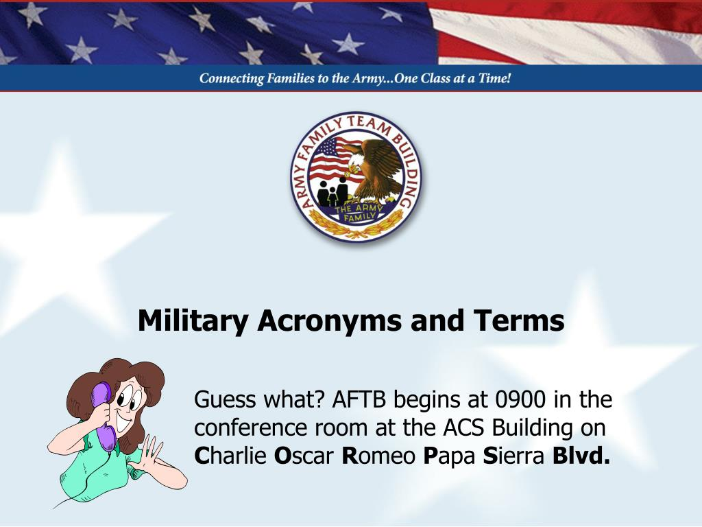 military acronyms and terms l.