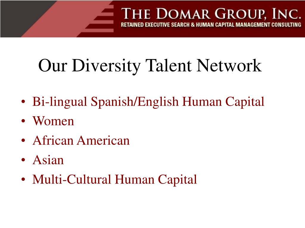 Our Diversity Talent Network