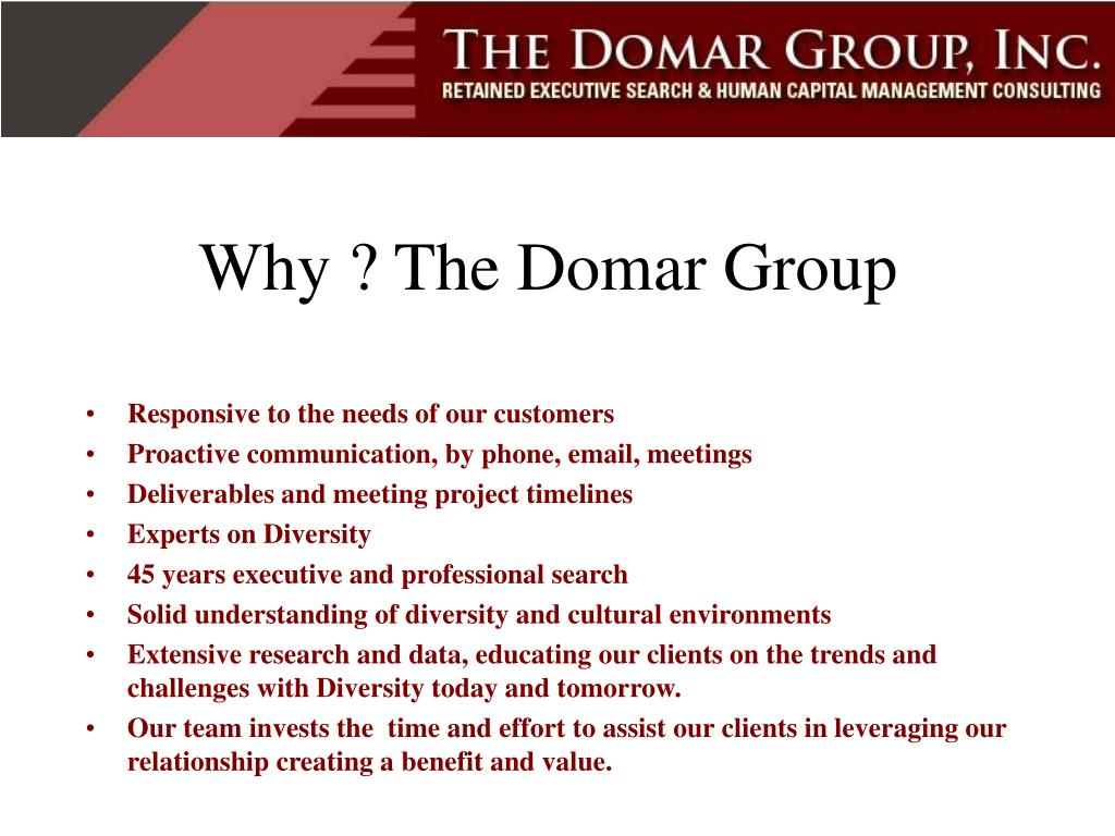 Why ? The Domar Group