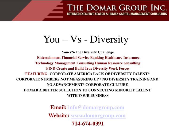 You vs diversity