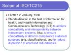 scope of iso tc215