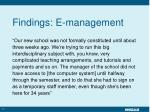 findings e management