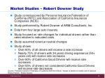market studies robert downer study
