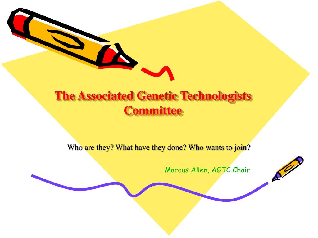 the associated genetic technologists committee l.