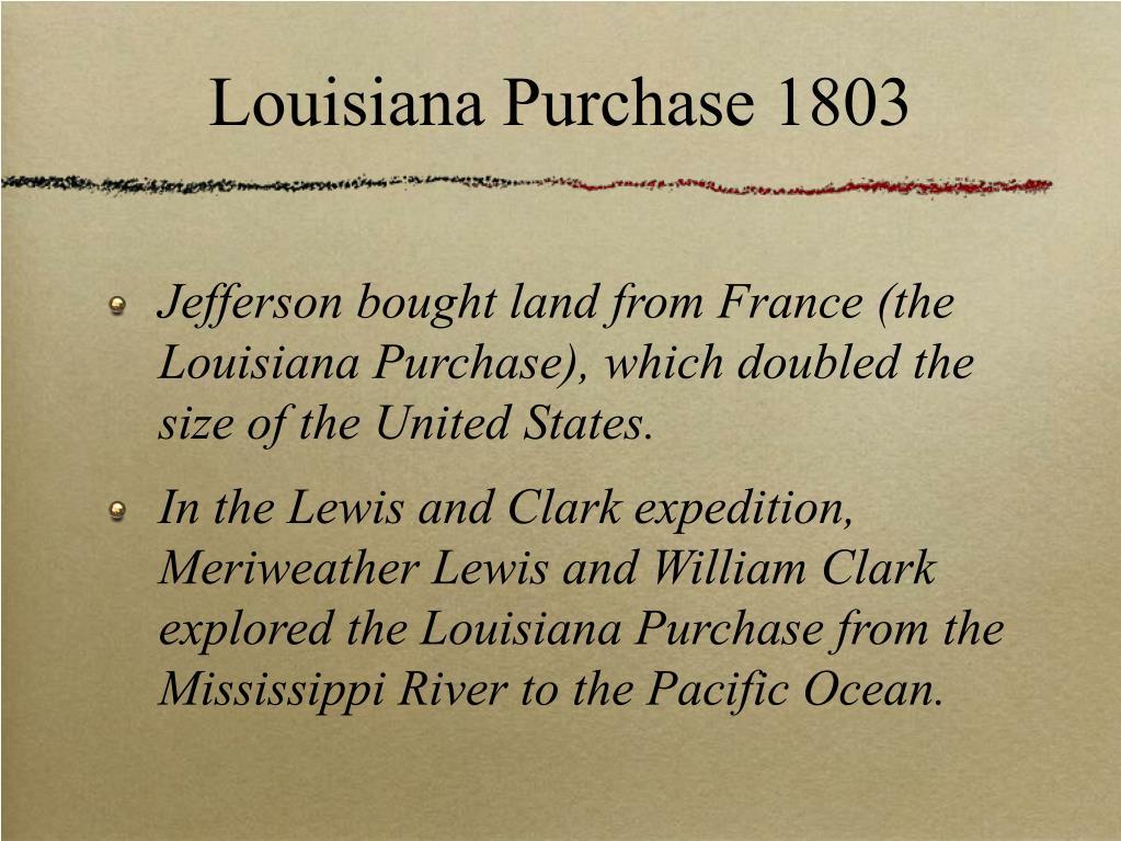 Louisiana Purchase 1803