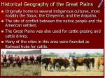 historical geography of the great plains