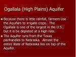 ogallala high plains aquifer