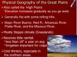 physical geography of the great plains