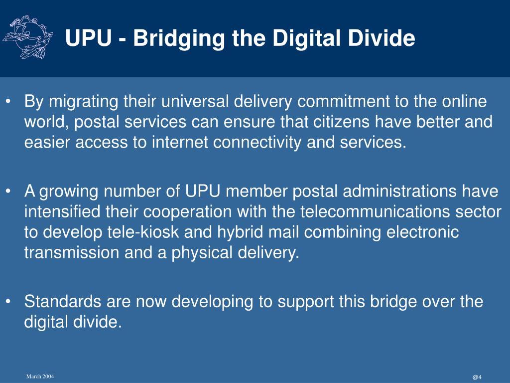UPU - Bridging the Digital Divide