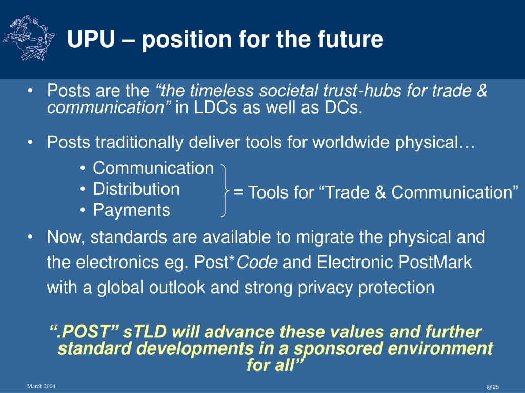 UPU – position for the future