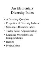 an elementary diversity index