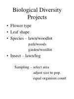 biological diversity projects