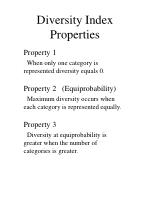 diversity index properties