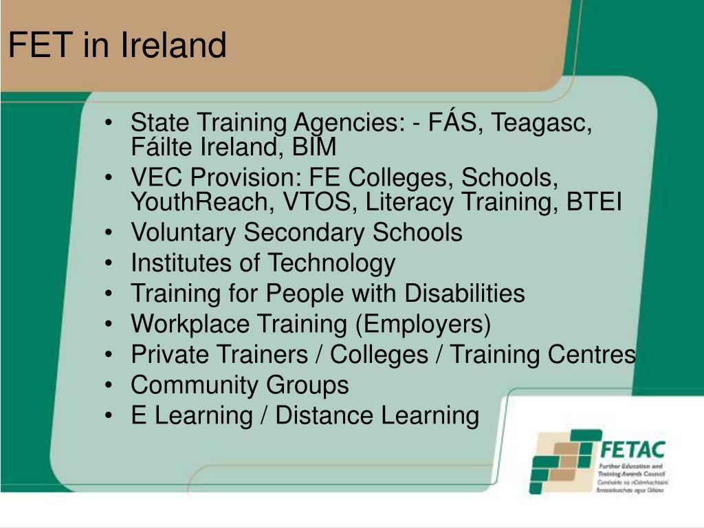 FET in Ireland