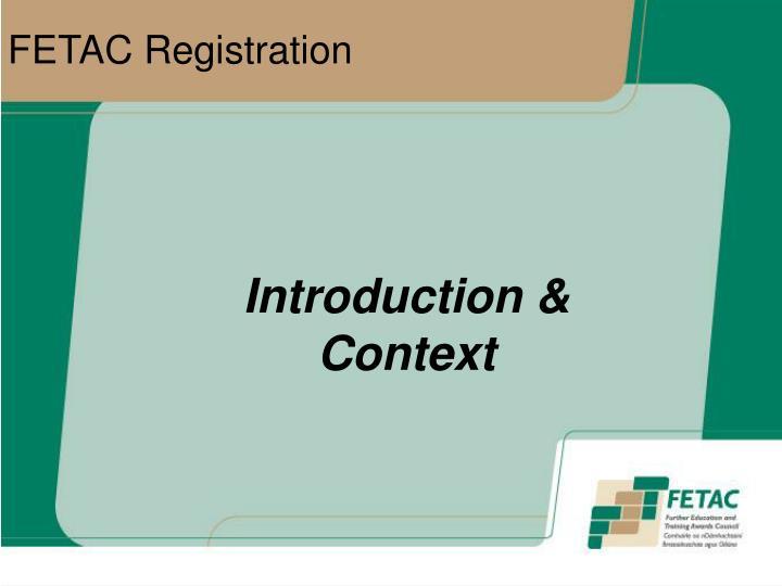 Fetac registration