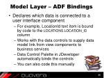 model layer adf bindings