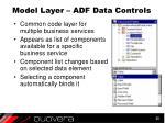 model layer adf data controls