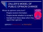 zaller s model of public opinion change
