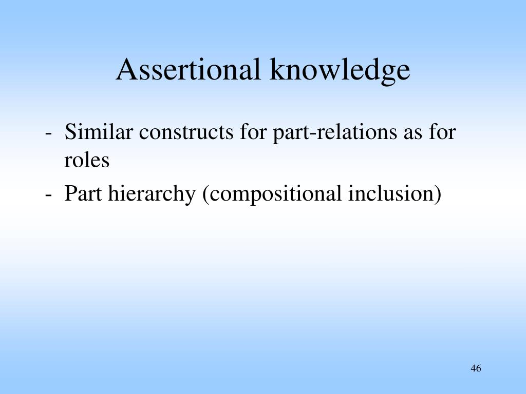 Assertional knowledge