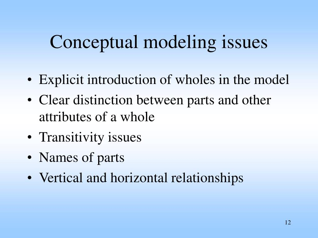 Conceptual modeling issues