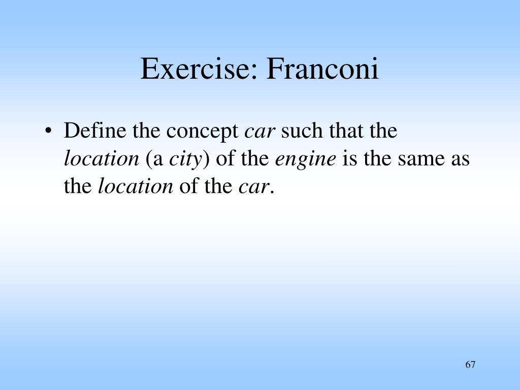 Exercise: Franconi