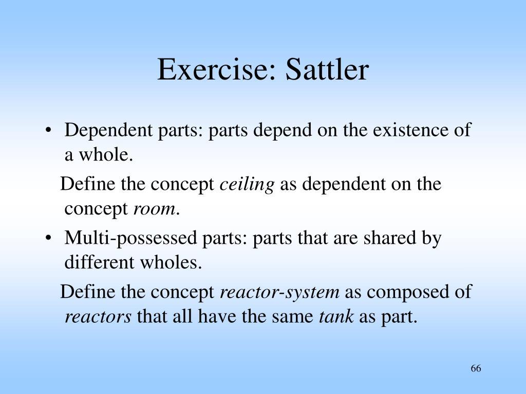 Exercise: Sattler
