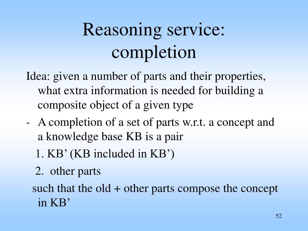 Reasoning service: