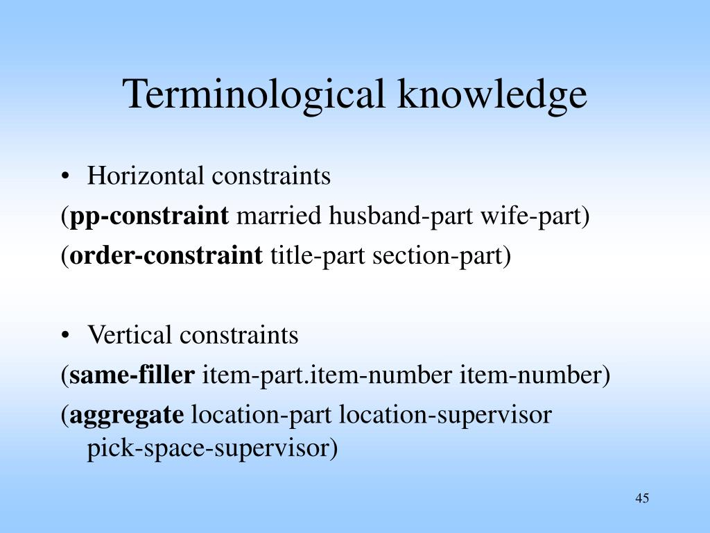Terminological knowledge