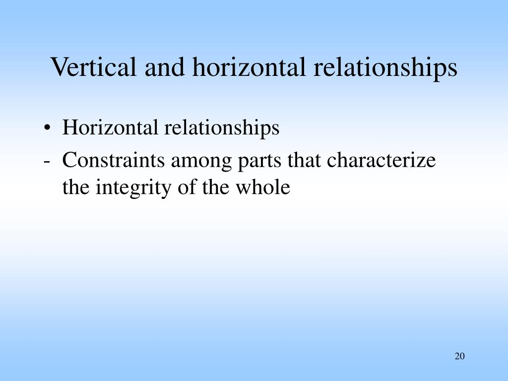 Vertical and horizontal relationships
