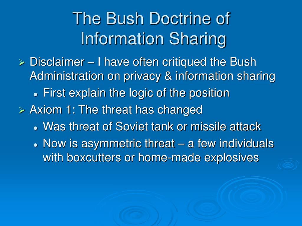 The Bush Doctrine of