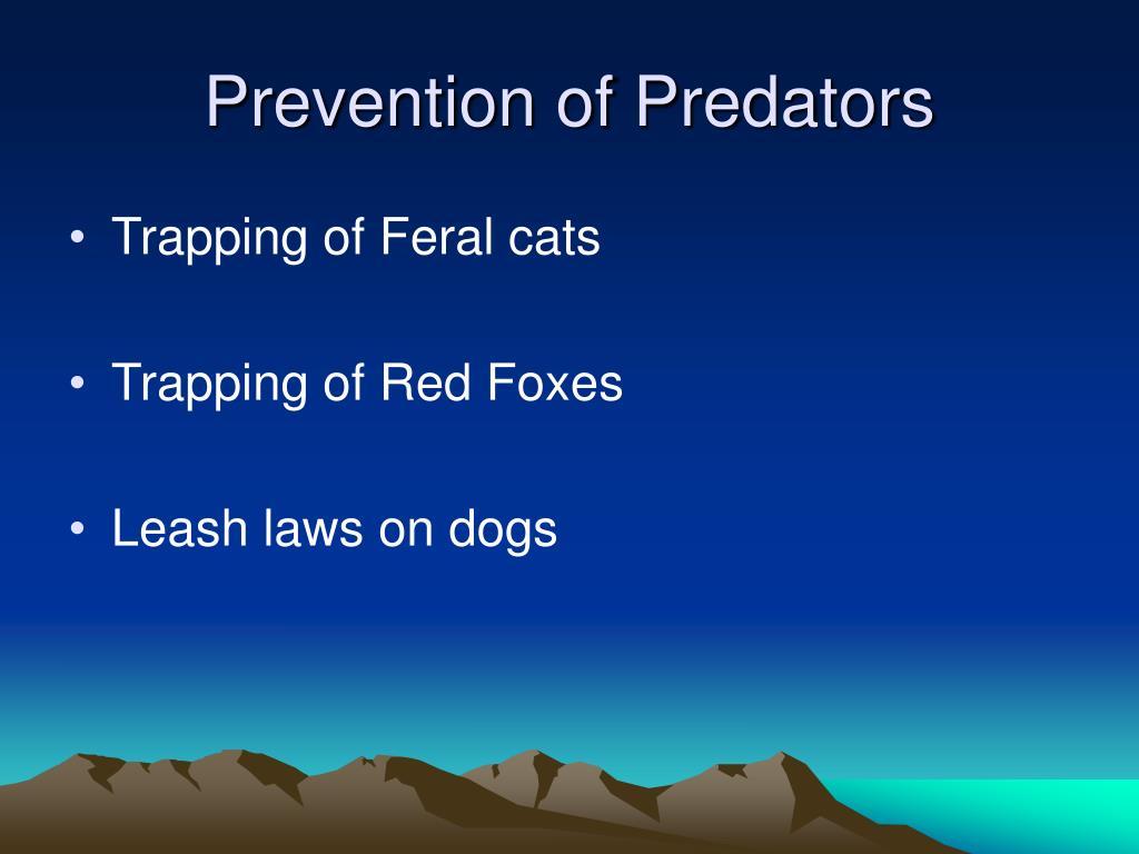 Prevention of Predators