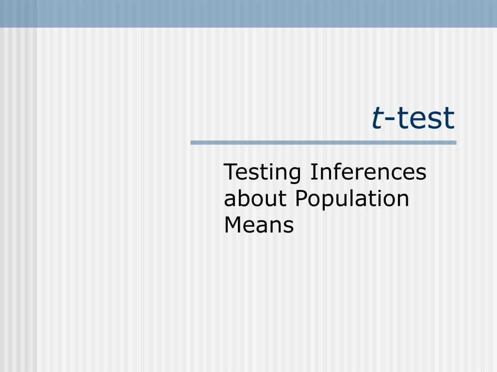t test