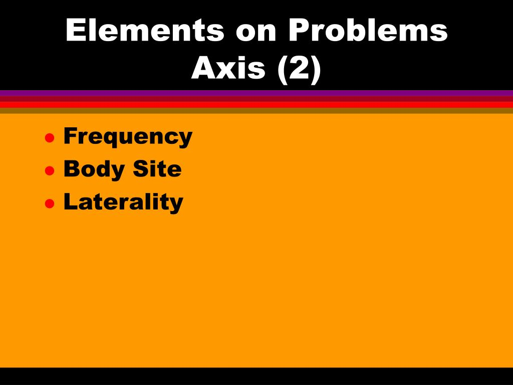 Elements on Problems Axis (2)
