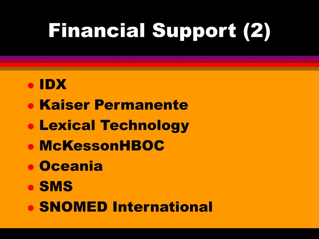 Financial Support (2)