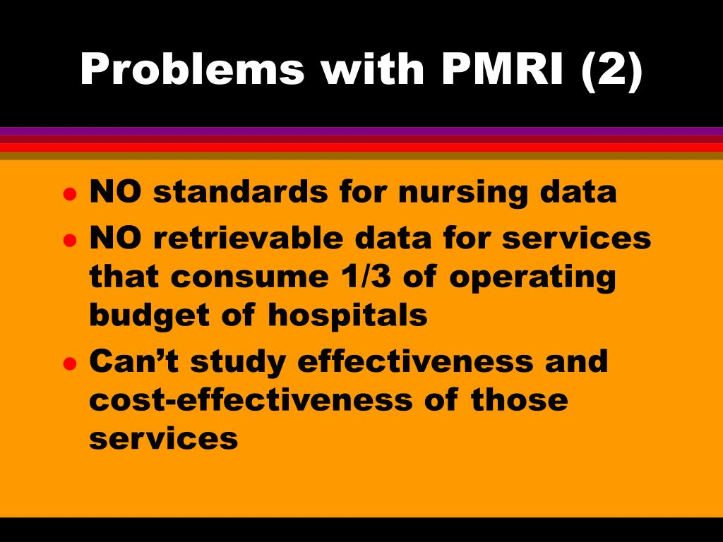 Problems with PMRI (2)