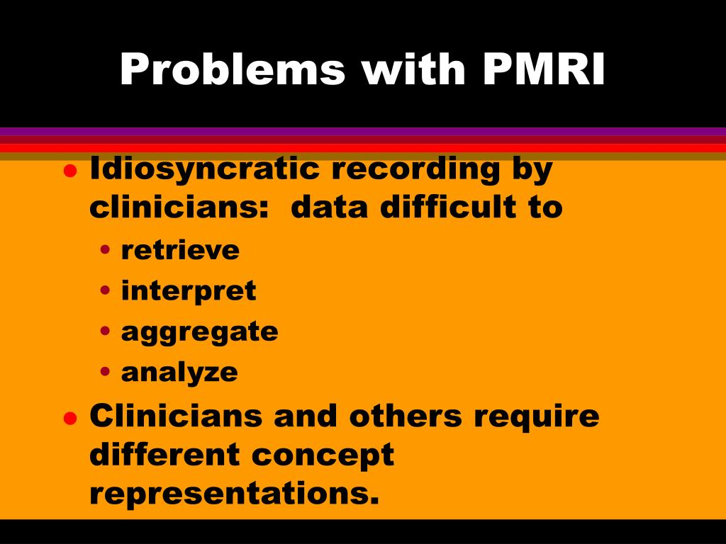 Problems with PMRI