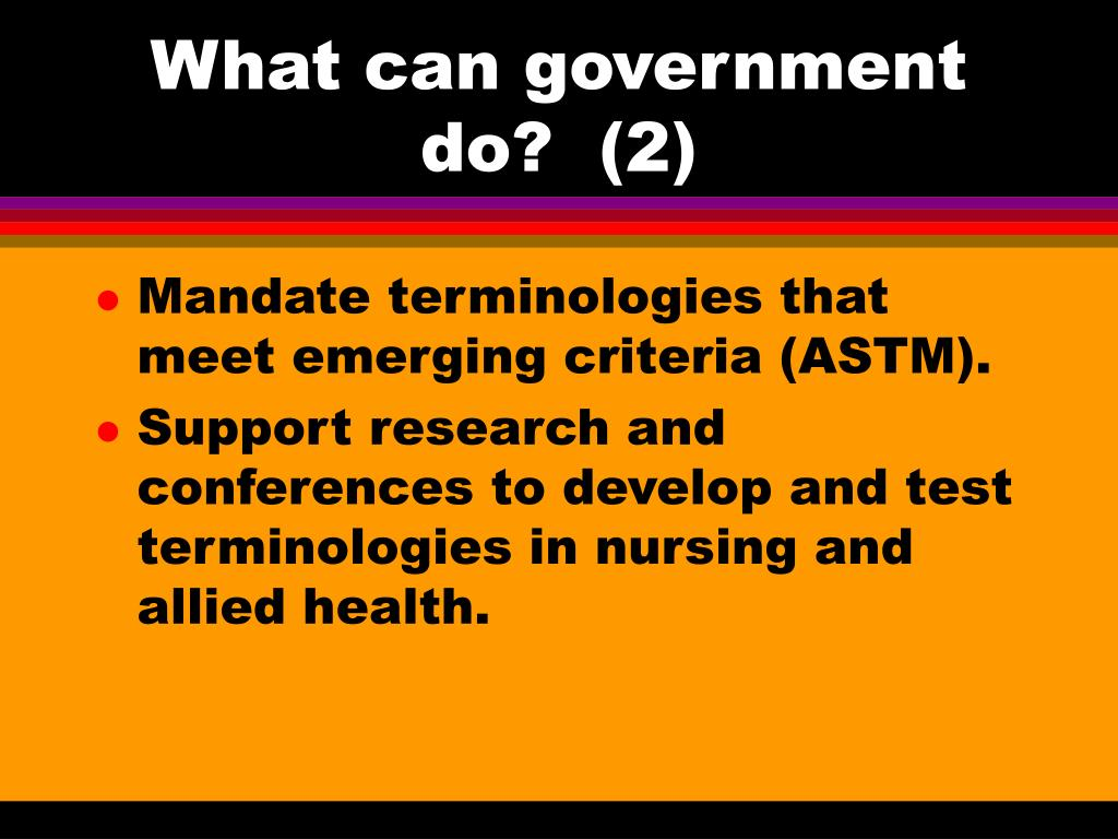 What can government do?  (2)
