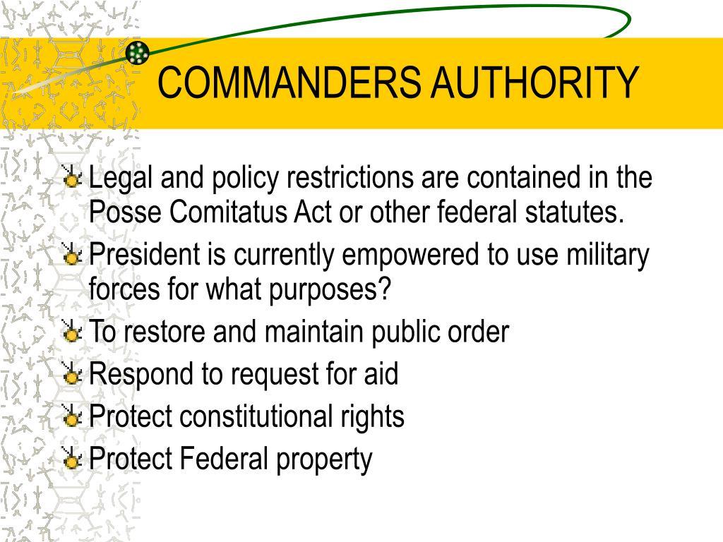 COMMANDERS AUTHORITY