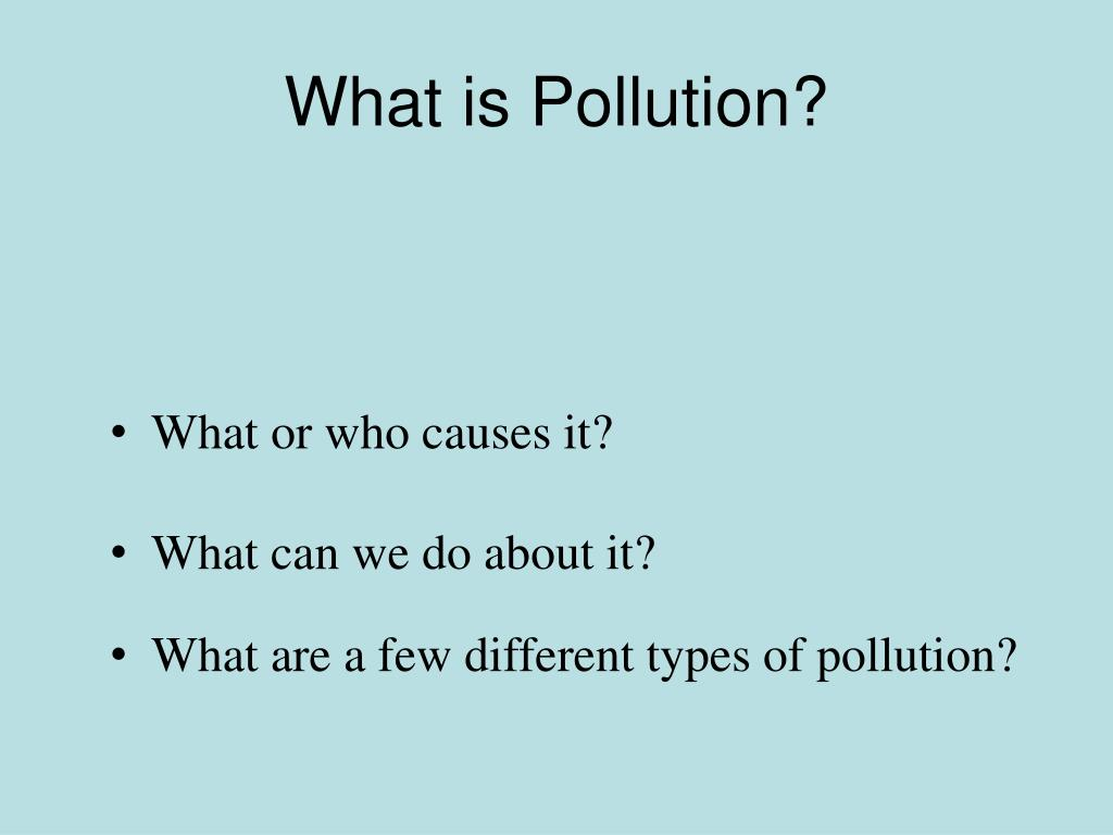 what is pollution l.