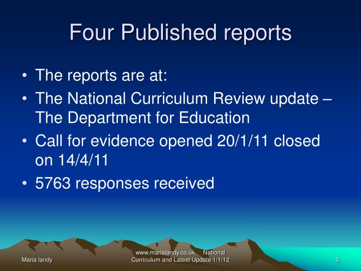Four published reports