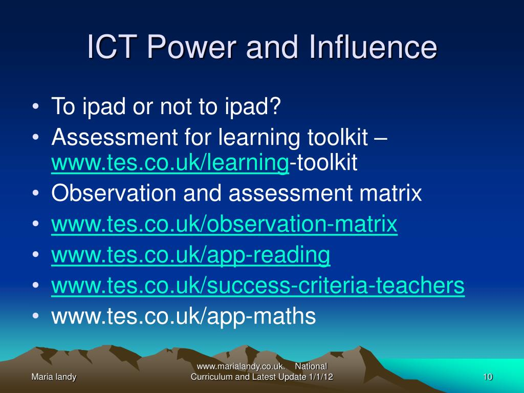 ICT Power and Influence