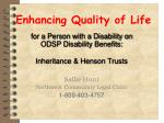 enhancing quality of life