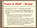 trusts odsp review