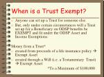 when is a trust exempt