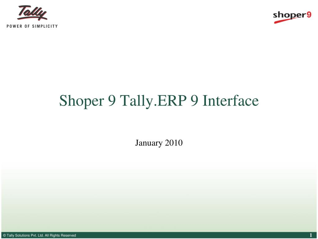 shoper 9 tally erp 9 interface l.
