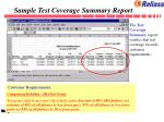 sample test coverage summary report