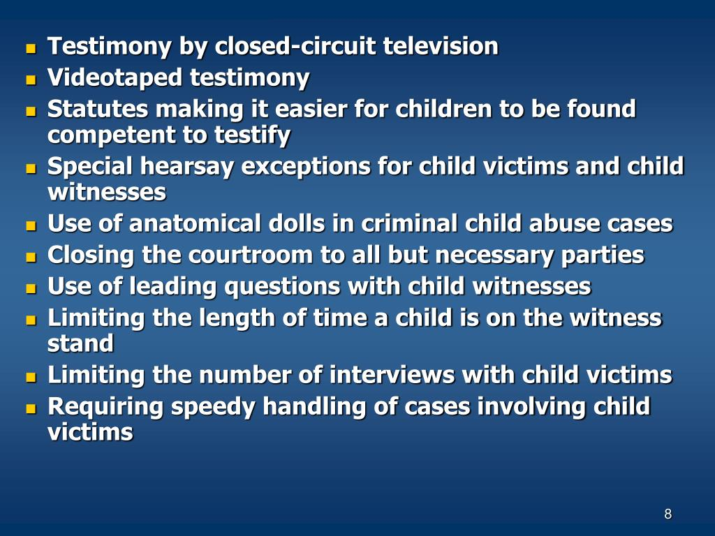 Testimony by closed-circuit television