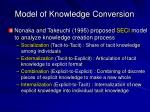 model of knowledge conversion