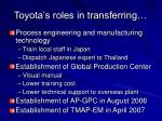 toyota s roles in transferring20